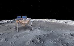 Izraelský modul Beresheet míří na Měsíc. Kredit: Oshratsl / Wikimedia Commons.