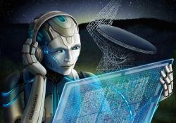 Umělá inteligence loví rychlé rádiové záblesky. Kredit: Breakthrough Listen / Danielle Futselaar.