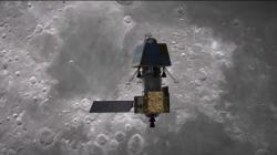 Umělecká představa indické měsíční sondy Čandraján-2 (zdroj ISRO).