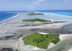 Ostrovy korálových útesů, atol Huvadhoo.Foto: Prof. Paul Kench, Simon Fraser University, Vancouver, Britská Kolumbie, Kanada