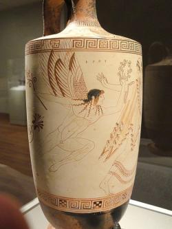 Erós v letech 500–490 před. n. l. Cleveland Museum of Art. Kredit: Dúris (via Daderot), Wikimedia Commons.