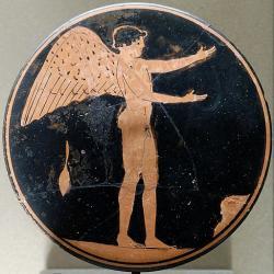 Erós v letech 470–450 před. n. l. Louvre. Kredit: Painter of London (via Marie-Lan Nguyen alias Jastrow), Wikimedia Commons.
