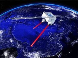 Čínský kvantový satelit QUESS. Kredit: Jian-Wei Pan.