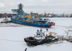 Práce na atomovém ledoborci Arktika (zdroj OCK – United Shipbuilding Corporation).
