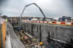 První betonáže na elektrárně Hinkley Point C (zdroj EDF).