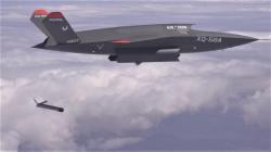Valkyrie vypustila dron ALTIUS-600. Kredit: US Air Force.