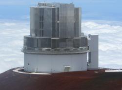 Ani havajský teleskop Subaru s průměrem zrcadla 8,5 metru nedokázal najít vhodného kandidáta pro průlet.  Zdroj: https://upload.wikimedia.org