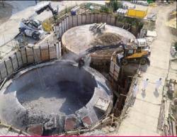 Likvidace nepoužívaných skladovacích nádrží čistící stanice odpadních vod (zdroj JAVYS).