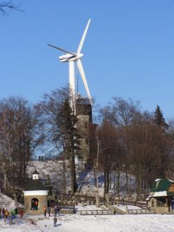 V současné době je nejdéle fungující větrná turbína na Hostýně (foto Daniel Baránek).