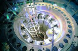 Dokončovaný druhý reaktor RITM200 pro ledoborec Ural (zdroj Atomenergomaš).