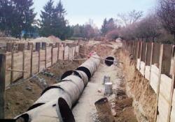 Odstranění potrubí chladící vody (zdroj JAVYS).