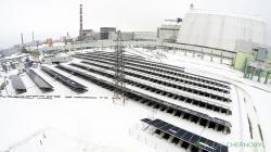 První větší fotovoltaická elektrárna o výkonu 1 MW začala v Černobylu pracovat v roce 2018 (zdroj Solar Chernobyl).