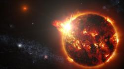 Časté erupce měly být na většině blízkých hvězd, měly být na blízkých planetách překážkou pro život. Nové modely to zpochybňují. Kredit: GODDARDOVO VESMÍRNÉ LETOVÉ STŘEDISKO NASA / S.WIESSINGER.