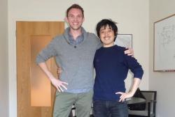Christopher Reinhard a Kazumi Ozaki.Kredit: Kazumi Ozaki.