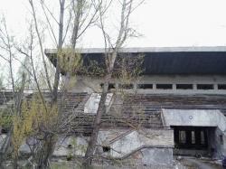 Opuštěný stadion ve městě Pripjať (Autor: Vladimír Wagner).