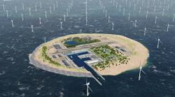 K integraci velkých mořských farem na severu Evropy do elektrických sítí se plánují vybudovat umělé ostrovy (zdroj Energinet.dk).
