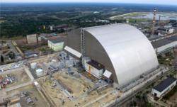 Letecký pohled na Oblouk (zdroj Černobylská jaderná elektrárna).