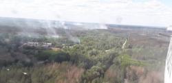 Likvidace lesních požárů vzakázané zóně okolo Černobylské jaderné elektrárny (zdroj Ukrajinská státní služba pro mimořádné události dsns.gov.ua).
