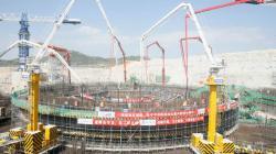 Zahájení betonáže jaderného ostrova prvního bloku elektrárny Čang-čou (zdroj CNNC).