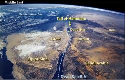 Mapa Levanty směstem Beth Haram. Kredit: NASA.