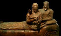 Etruský pár. Sarkofág. Kredit: Gerard M, Vikimedia,CC BY-SA 3.0
