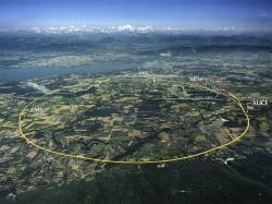 LHC vCERNu, staronový držitel světového rekordu ve srážení částic. Kredit: Maximilien Brice / CERN.