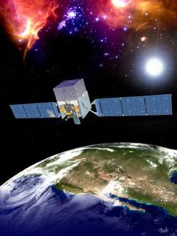 Sonda FERMI zkoumá záření gama již od roku 2008 (zdroj NASA).
