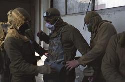 Ještě jeden obrázek Igora Kostina z přípravy likvidátorů na práci (zdroj Igor Kostin/internet).