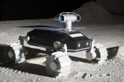Robotický rover ECA od Team Indus. Kredit: Team Indus.