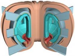 Nákres reaktoru předpokládané termojaderné elektrárny DEMO.