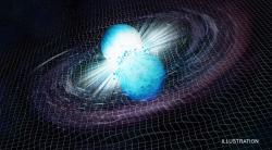 Srážka neutronových hvězd. Kredit: CXC/M. Weiss; X-ray: NASA/CXC/Trinity University/D. Pooley et al.