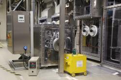 Plynný zdroj 83mKr v Tritiové laboratoři v Karlsruhe (zdroj projekt KATRIN).
