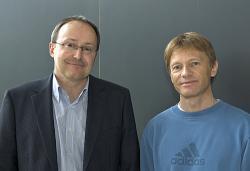Andreas Schilling vpravo. Kredit: Universität Zürich.