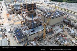 Reaktor AP1000 se buduje v americké elektrárně Vogtle, do provozu by se měl dostat v příštím roce (zdroj Georgia Power and Southern Nuclear).