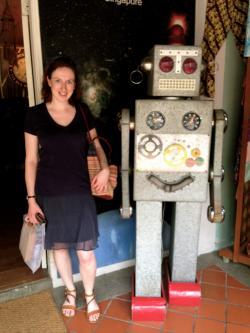 Kate Devlinová má krobotům očividně vřelý vztah. Kredit: K. Devlin.