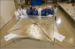 Solární plachta sondy Nanosail-D (zdroj NASA).