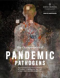 "Zpráva ""The Characteristics of Pandemic Pathogen"". Kredit: Johns Hopkins Center for Health Security."