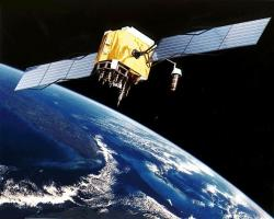 Satelit Block II-F systému GPS. Kredit: NASA.