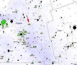 Poloha KIC 8462852 v souhvězdí Labutě. Kredit: Roberto Mura / Wikimedia Commons.