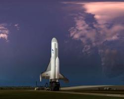 XS-1 na startu. Kredit: Boeing.