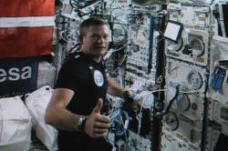 Andreas Mogensen na palubě ISS. Zdroj: https://scontent-fra3-1.xx.fbcdn.net