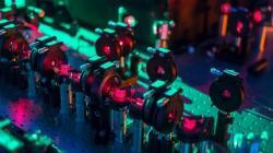Část kvantové mašiny na možné budoucnosti. Kredit: Griffith's University.