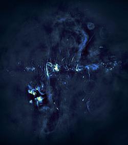 Rádiový snímek centra Mléčné dráhy, pořízený soustavou MeerKAT.