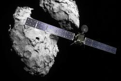 Rosetta skometou 67P/Čurjumov-Gerasimenko. Kredit: ESA.