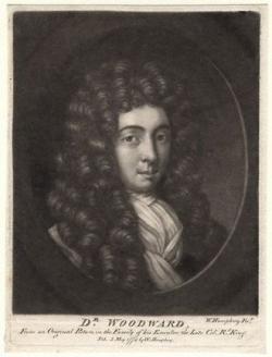 John Woodward, anglický přírodovědec a geolog (1665 – 1728) Veřejné dílo, Wikipedia)