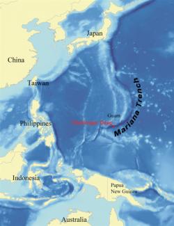 Challenger Deep vMariánském příkopu. Kredit: wallace / Wikimedia Commons.