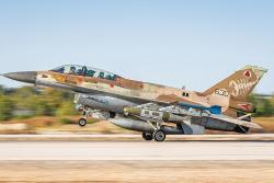 Izraelská F-16 startuje knáletu na Gazu (16. května 2021). Kredit: Amit Agronov / IDF Spokesperson's Unit.