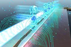 Detekce rádiových vln Rydbergovými atomy. Kredit: US Army.