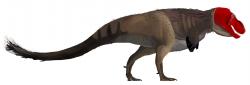 """Dnes již víme, že mnozí dinosauři snášeli velmi chladné prostředí v druhohorních polárních oblastech. Přežívali tam díky svému aktivnímu metabolismu, teplokrevnosti, pernatému pokryvu těla a dalším adaptacím, získaným postupným vývojem. Dokážeme si proto představit """"srstnaté"""" dinosaury, kteří by možná dokázali zvládnout i čtvrtohorní doby ledové. Na obrázku hypotetická rekonstrukce částečně opeřeného tyranosaura. Kredit: Matthew Martyniuk; Wikipedie (CC BY-SA 3.0)"""