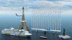 Vyšší než Eiffelova věž. Kredit: Wind Catching Systems.
